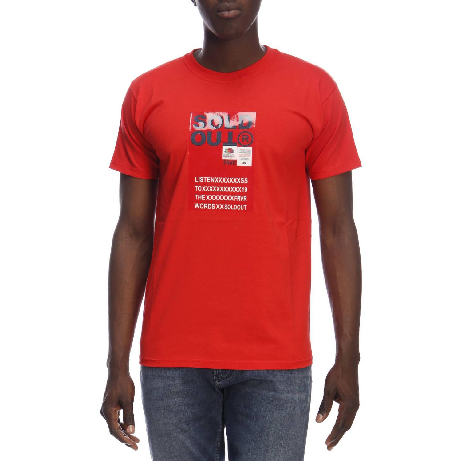 T-shirt men Sold Out red 1