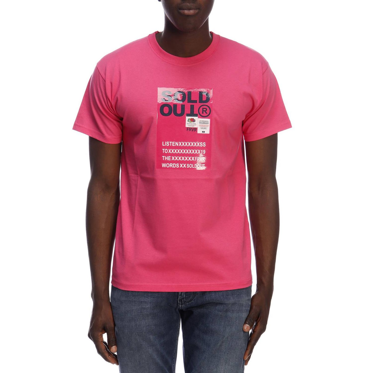 T-shirt homme Sold Out fuchsia 1