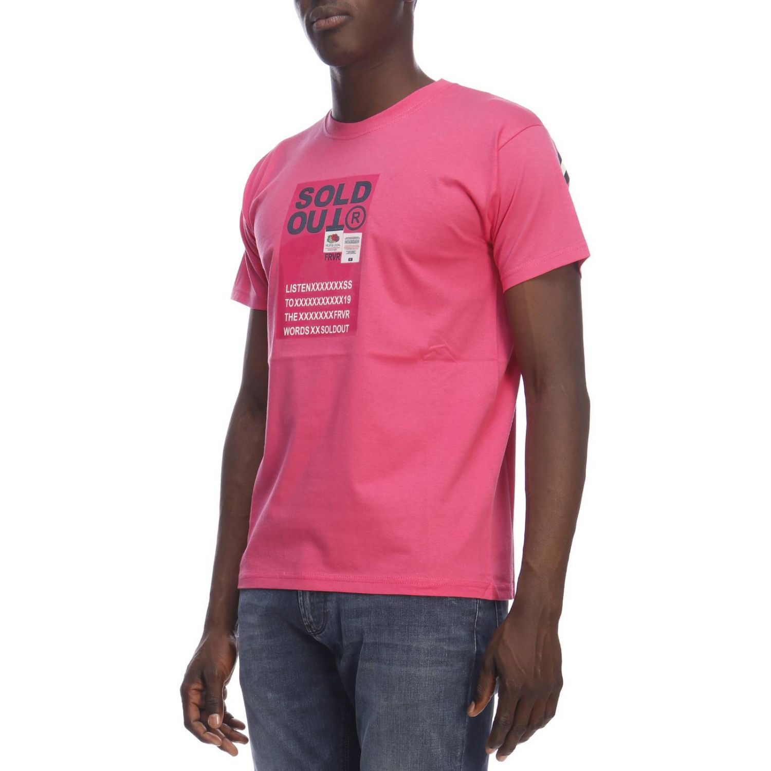 T-shirt homme Sold Out fuchsia 2