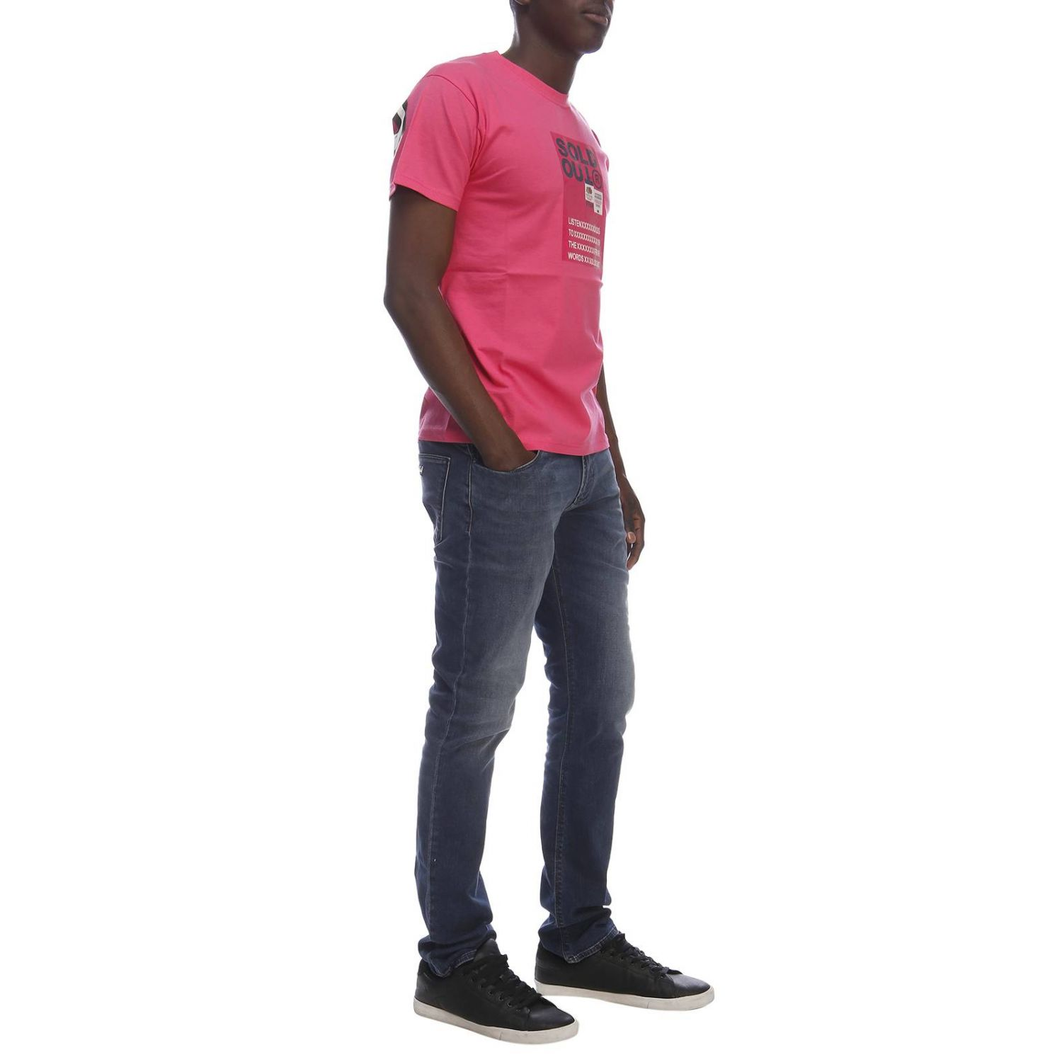 T-shirt homme Sold Out fuchsia 4