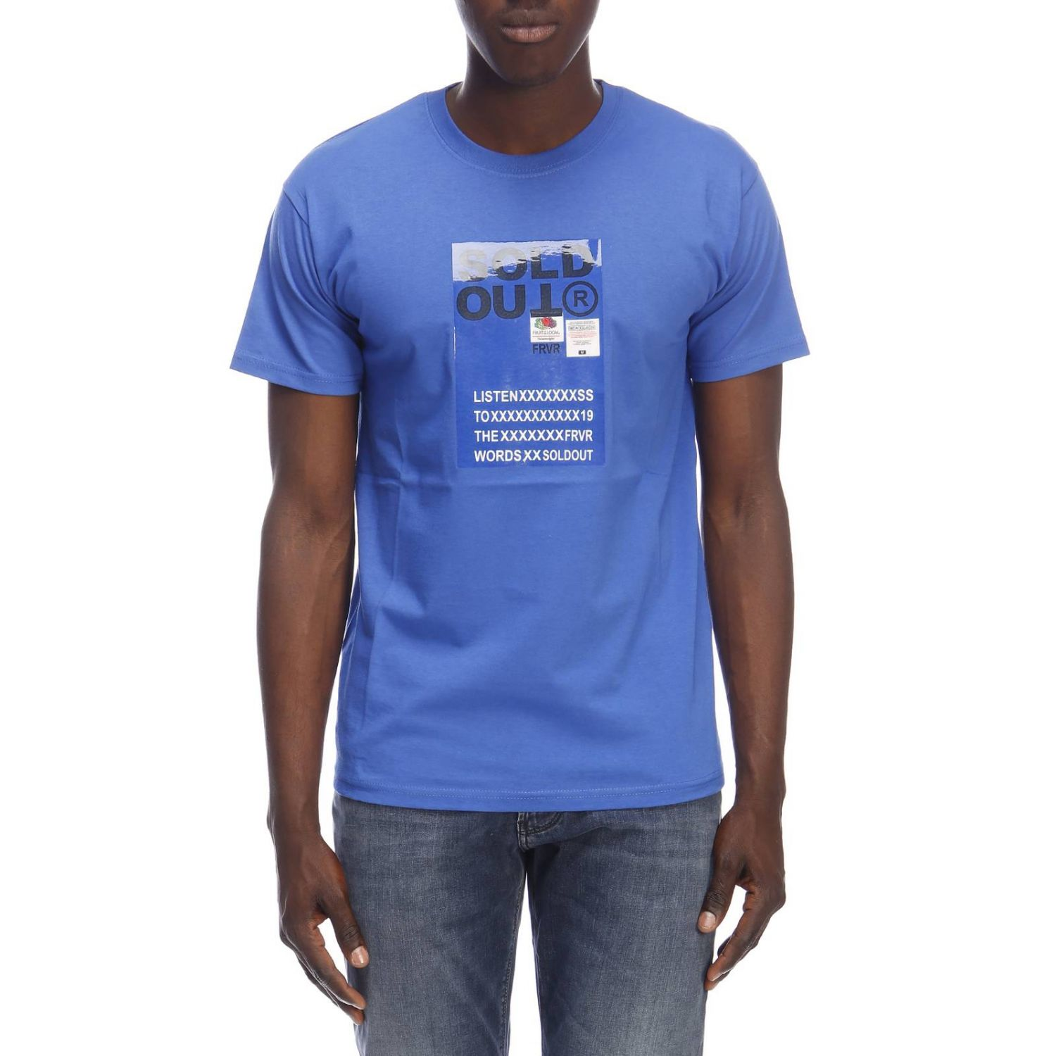 T-shirt homme Sold Out bleu royal 1