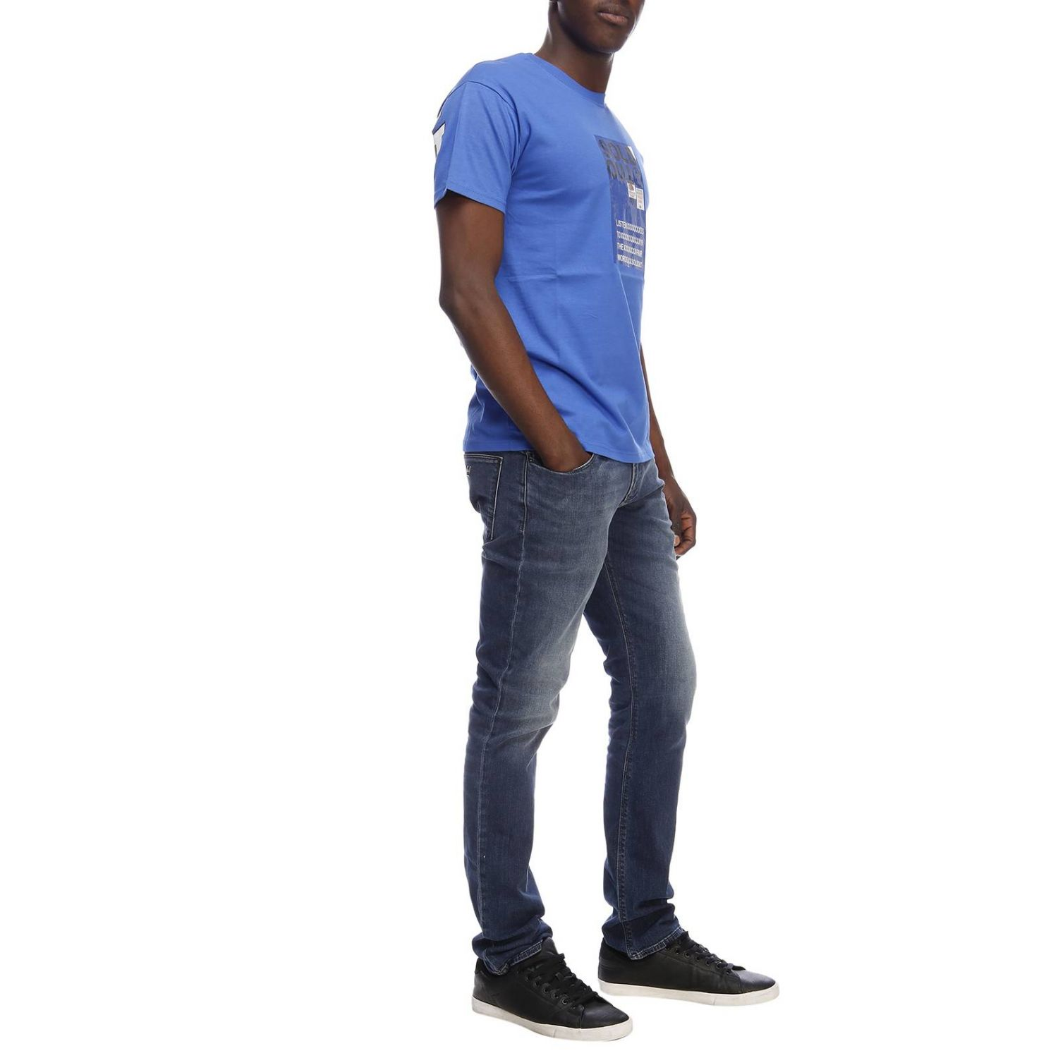T-shirt homme Sold Out bleu royal 4