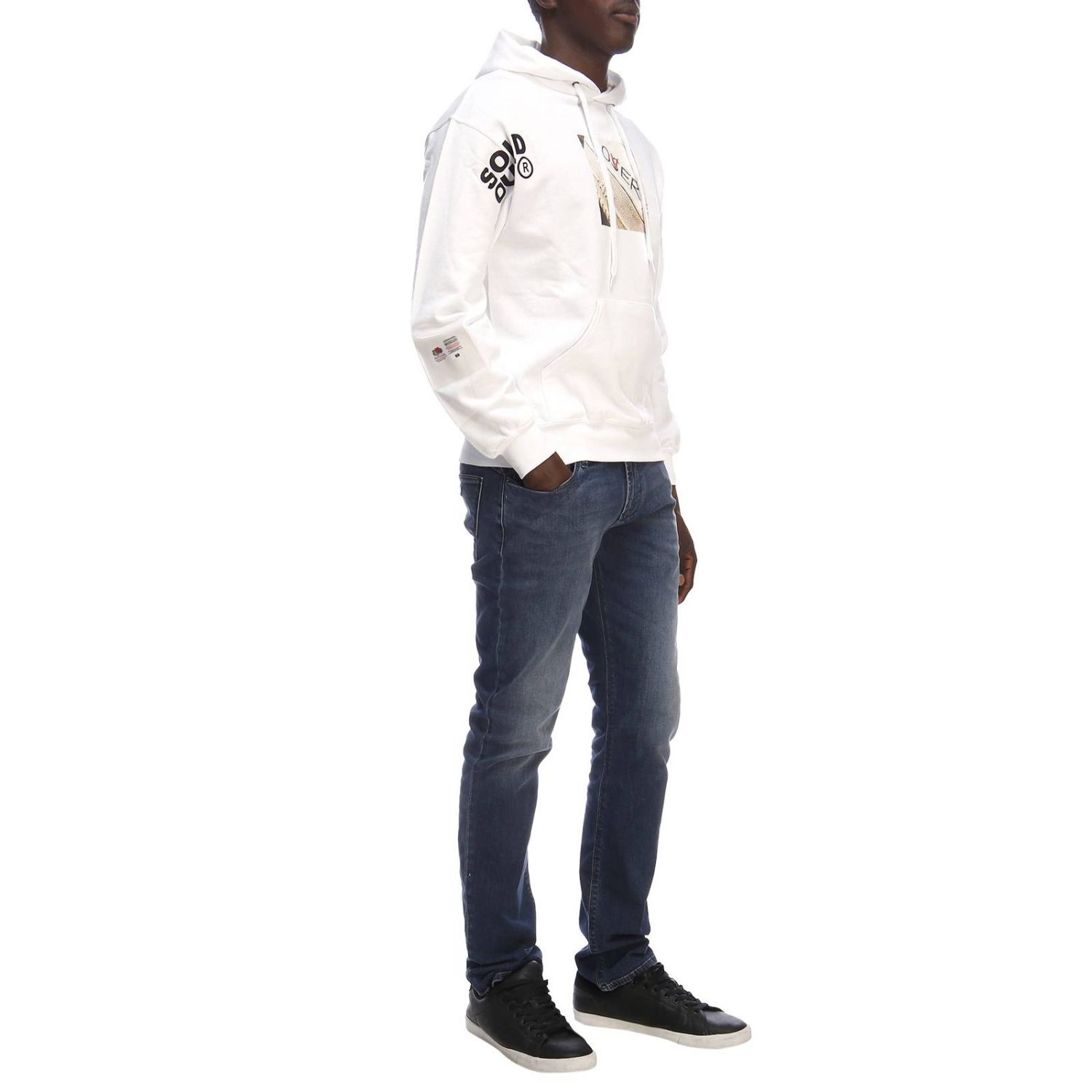 Pull homme Sold Out blanc 5