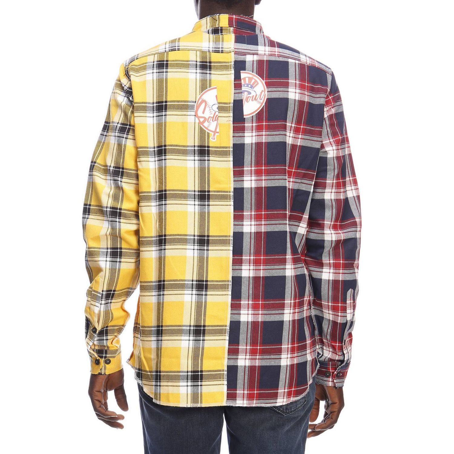 Camisa hombre Sold Out amarillo 3
