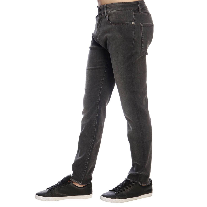 Jeans rock PT a vita bassa super skinny used stretch con tasche bull grigio 2