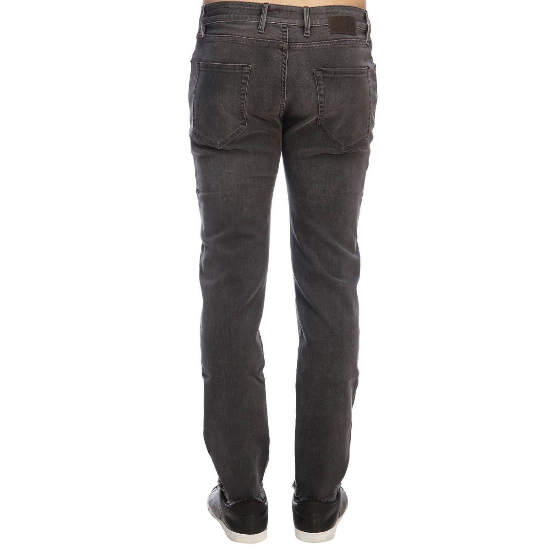 Jeans rock PT a vita bassa super skinny used stretch con tasche bull grigio 3