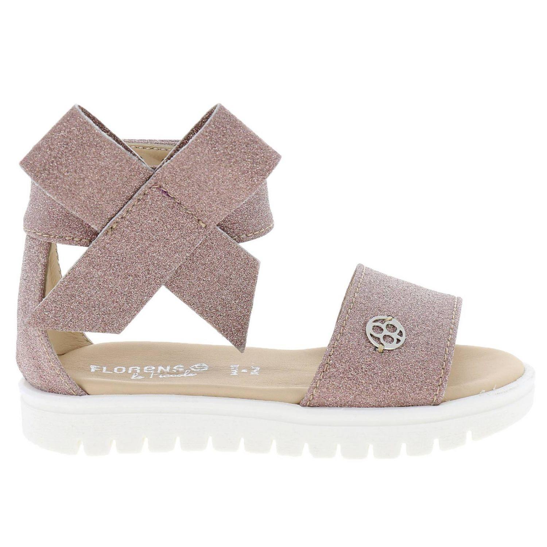 Sandalo Florens glitter con maxi fiocco rosa 1