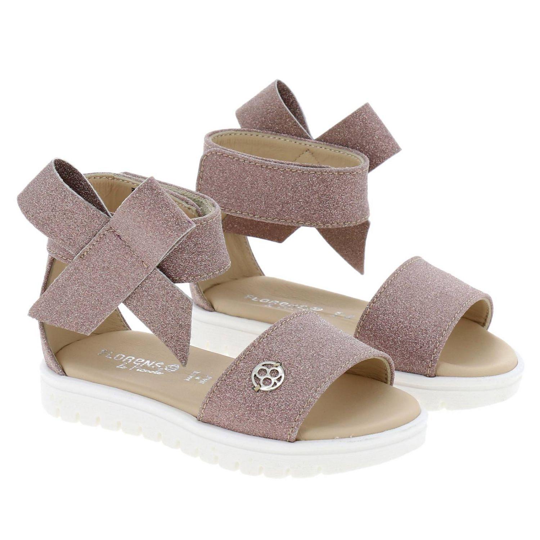 Sandalo Florens glitter con maxi fiocco rosa 2