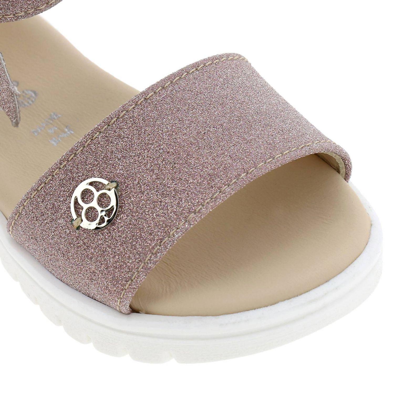 Sandalo Florens glitter con maxi fiocco rosa 3
