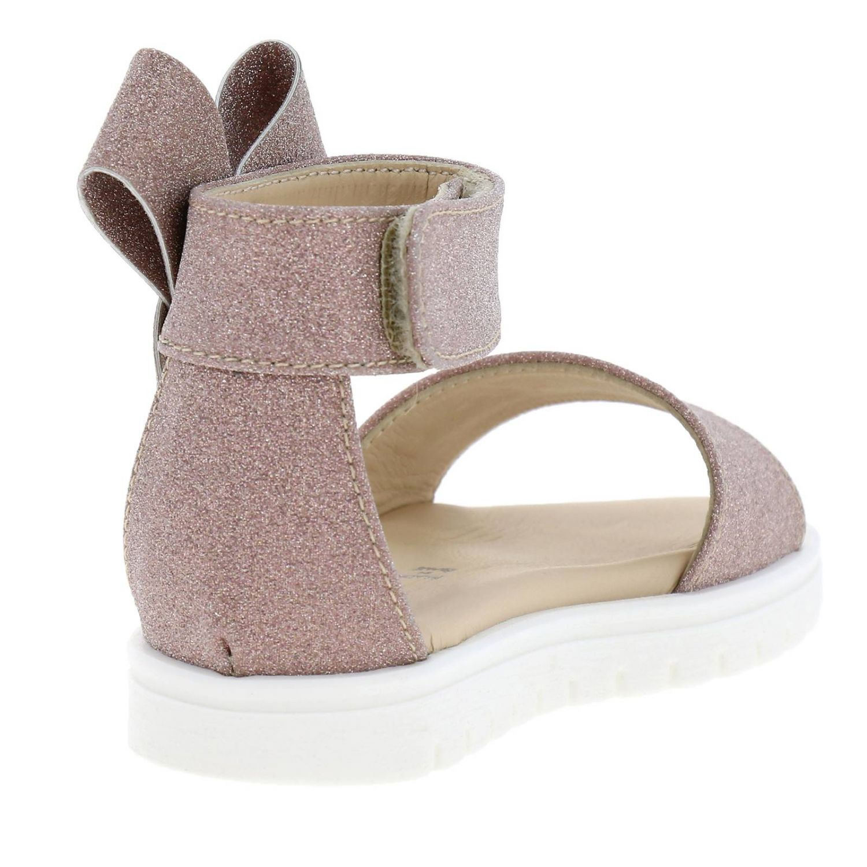 Sandalo Florens glitter con maxi fiocco rosa 4