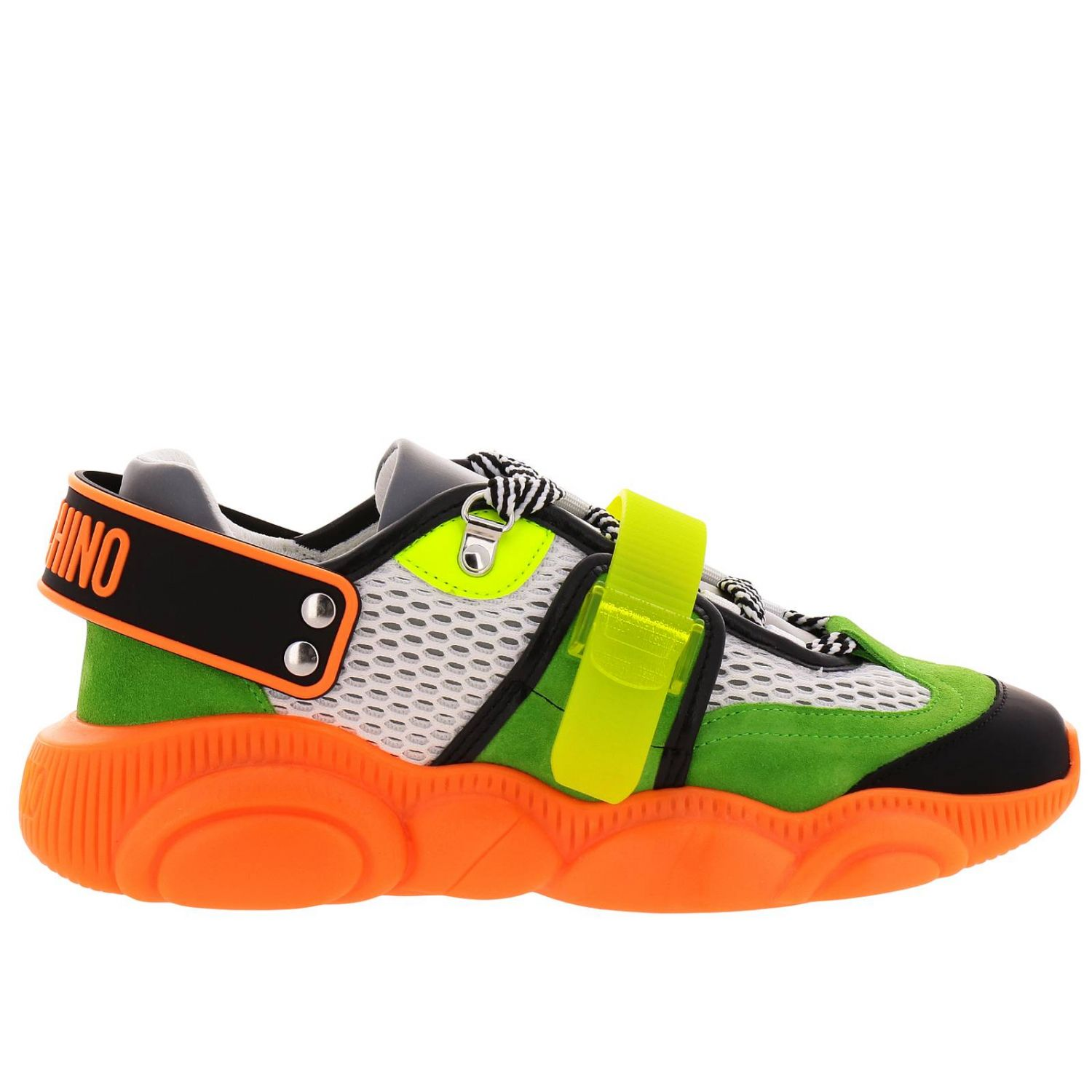Sneakers Moschino Couture Special Edition Teddy Fluo arancione 1