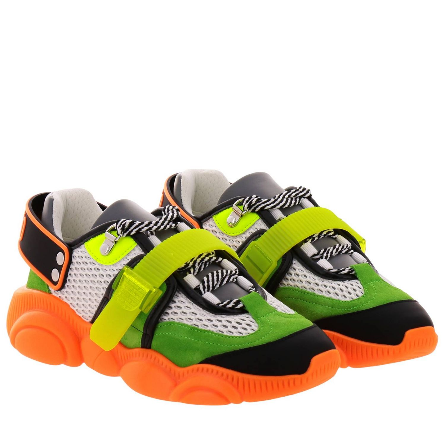 Sneakers Moschino Couture Special Edition Teddy Fluo arancione 2