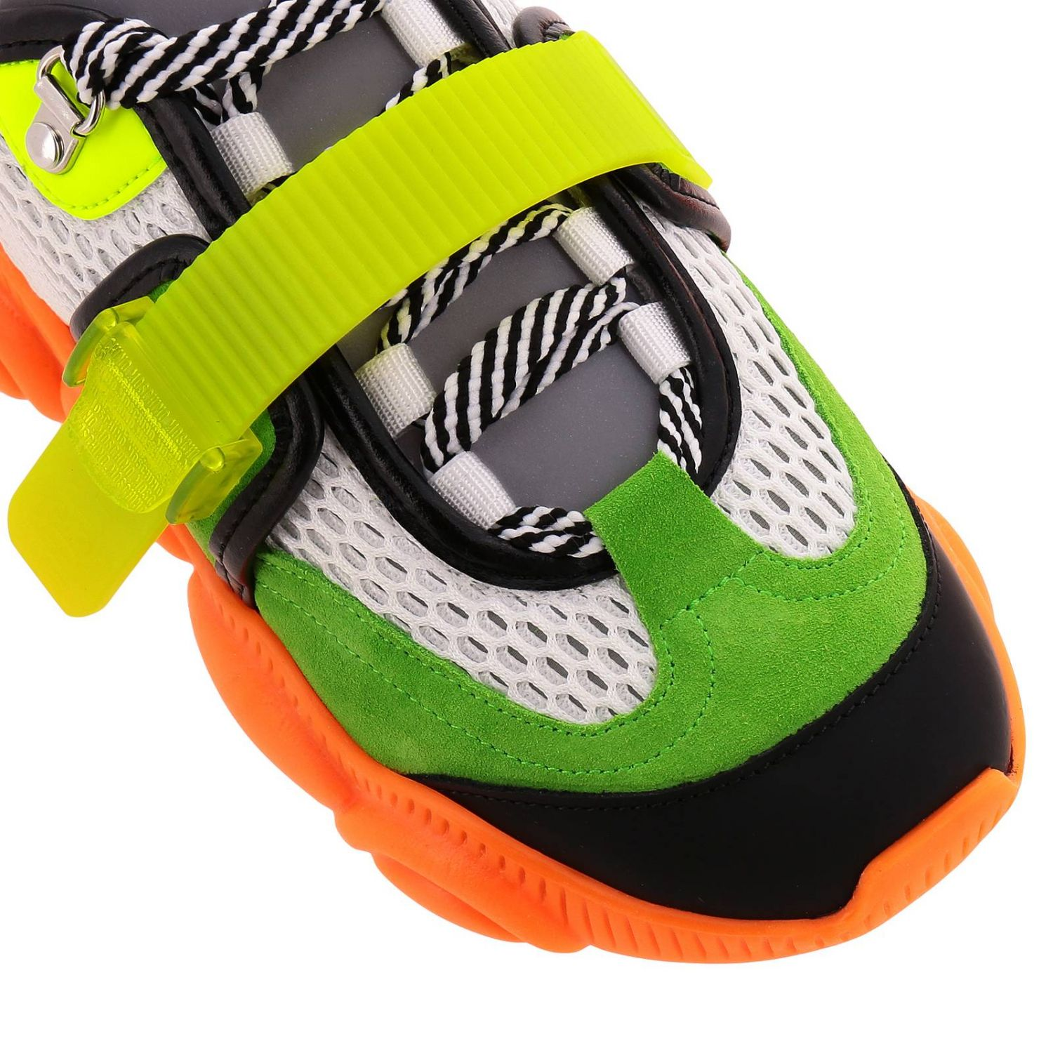 Sneakers Moschino Couture Special Edition Teddy Fluo arancione 3
