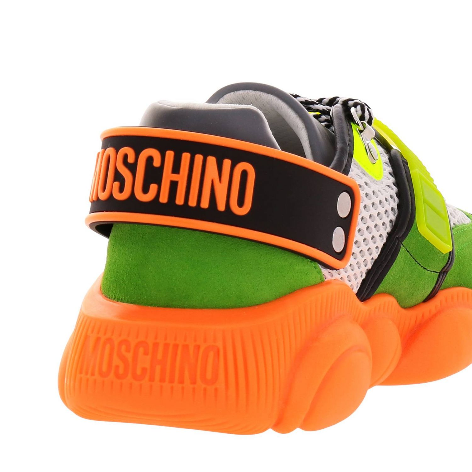 Sneakers Moschino Couture Special Edition Teddy Fluo arancione 4
