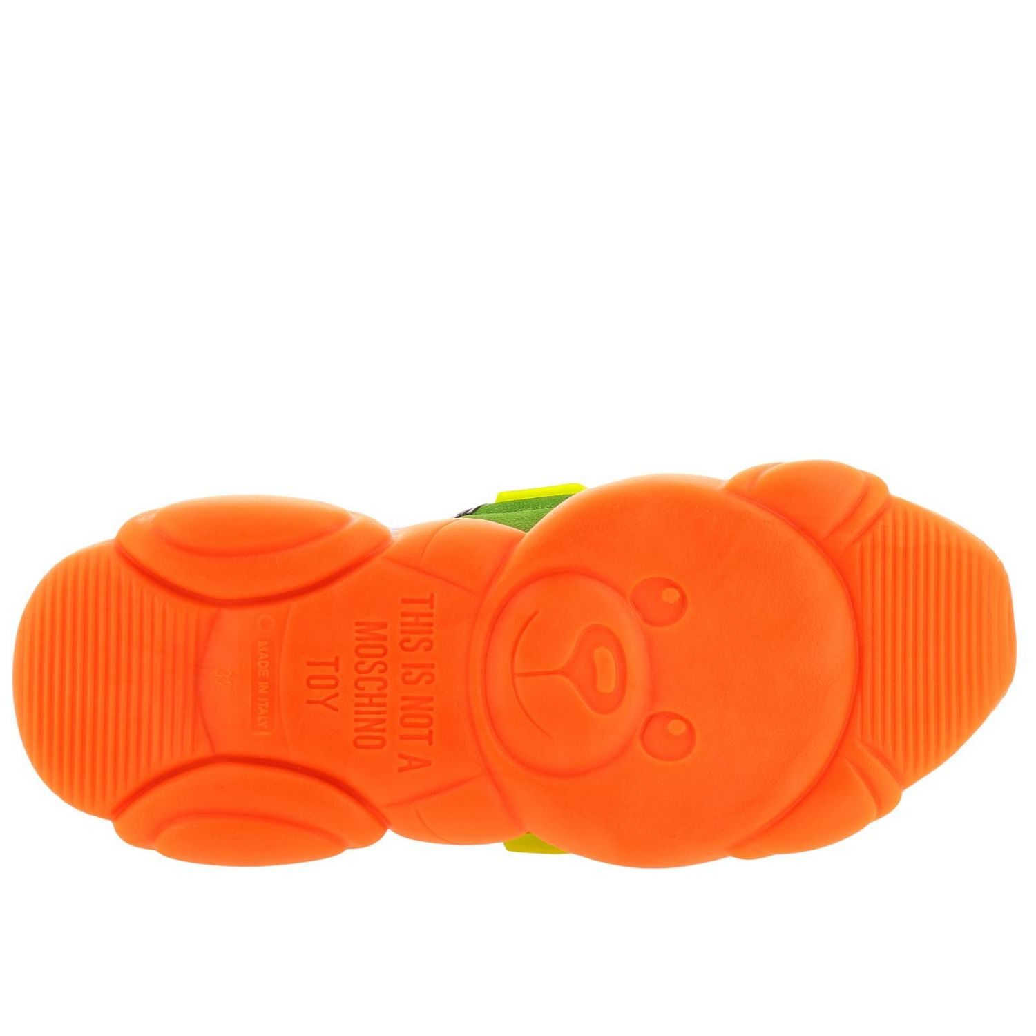 Sneakers Moschino Couture Special Edition Teddy Fluo arancione 5