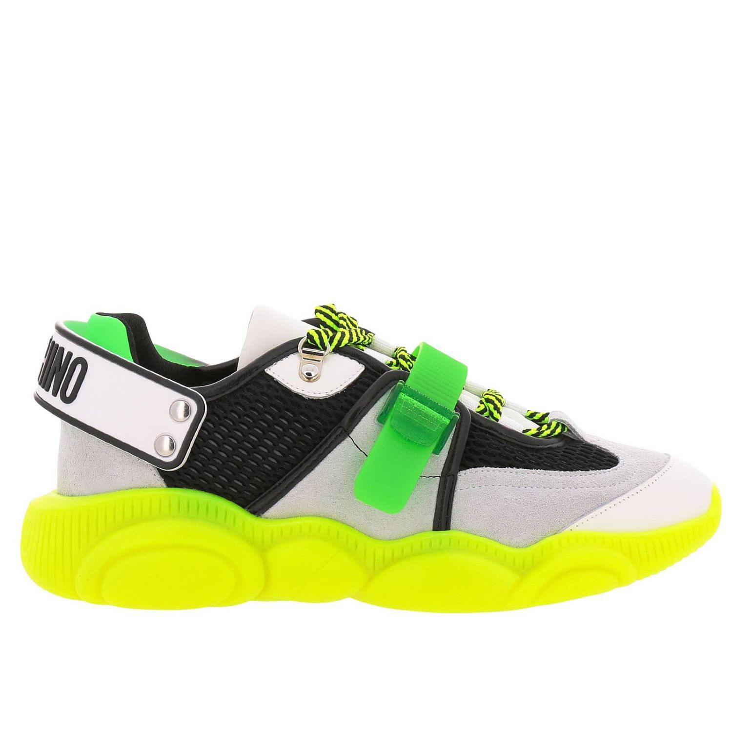 Sneakers Moschino Couture Special Edition Teddy Fluo giallo 1