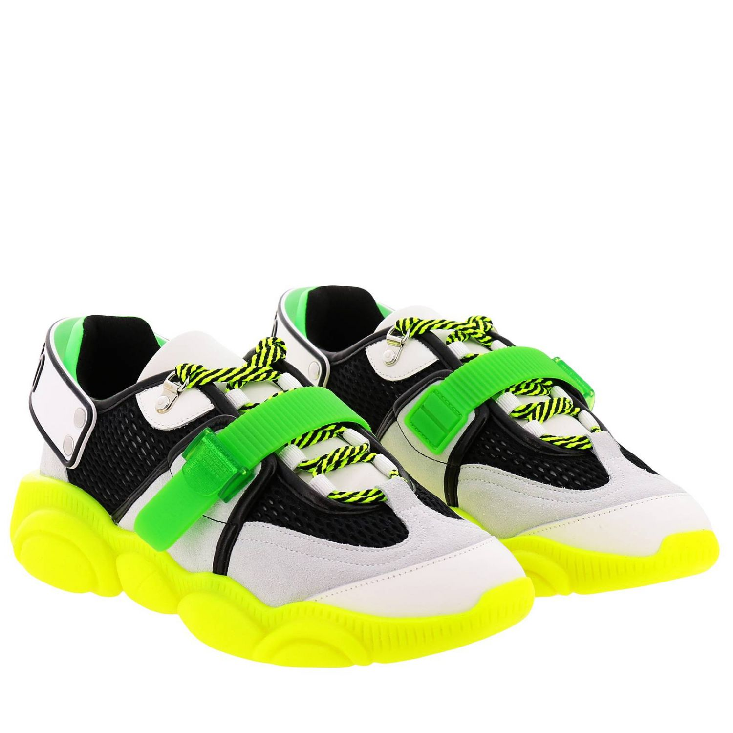 Sneakers Moschino Couture Special Edition Teddy Fluo giallo 2