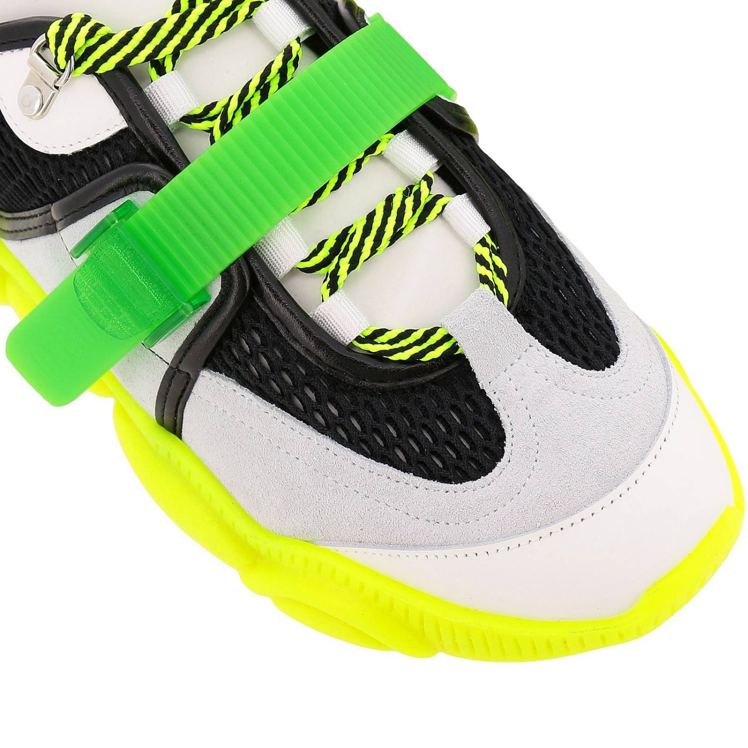 Sneakers Moschino Couture Special Edition Teddy Fluo giallo 3