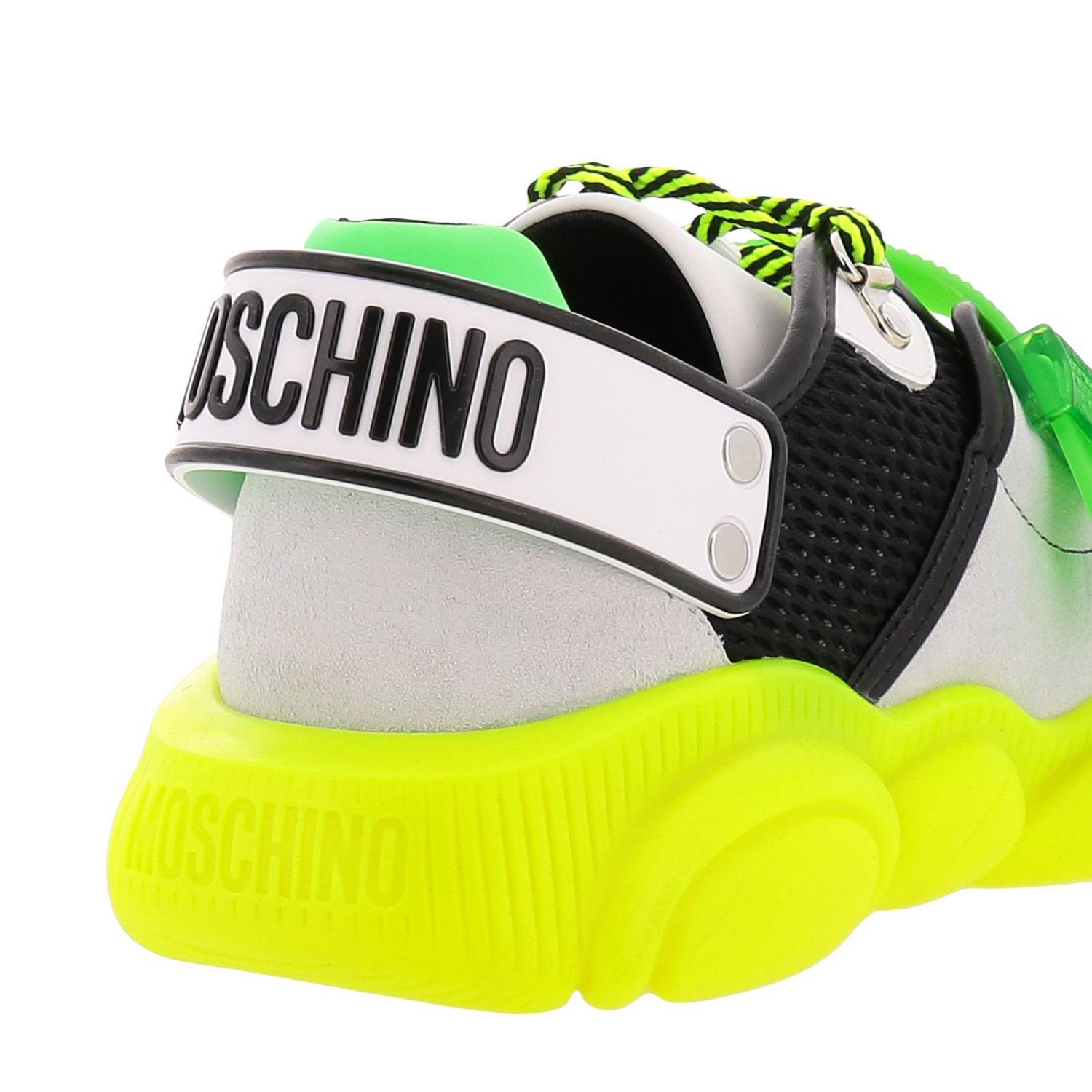 Sneakers Moschino Couture Special Edition Teddy Fluo giallo 4