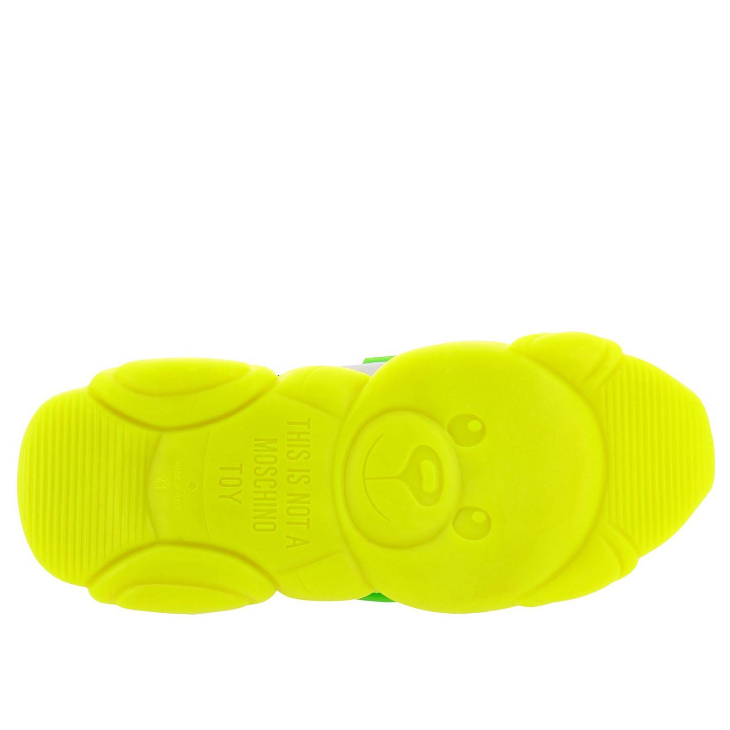 Sneakers Moschino Couture Special Edition Teddy Fluo giallo 5