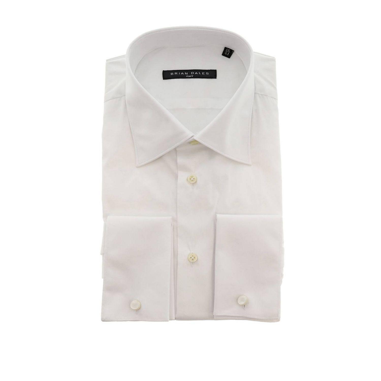 Camicia Brian Dales Camicie classica Sartoriale in cotone con collo italiano bianco 1