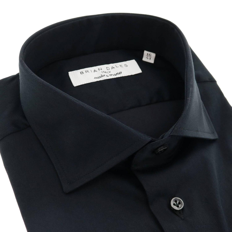 Camicia Brian Dales Camicie: Camicia Brian Dales Camicie classica Sartoriale in raso stretch con collo francese nero 2