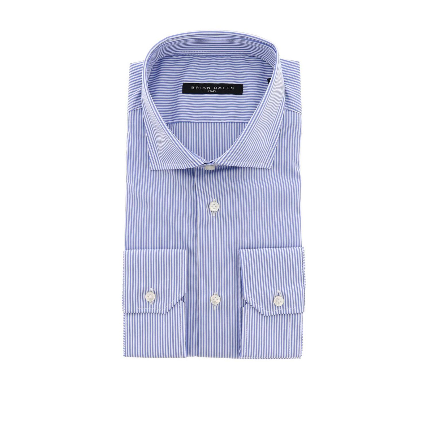 Shirt men Brian Dales Camicie gnawed blue 1