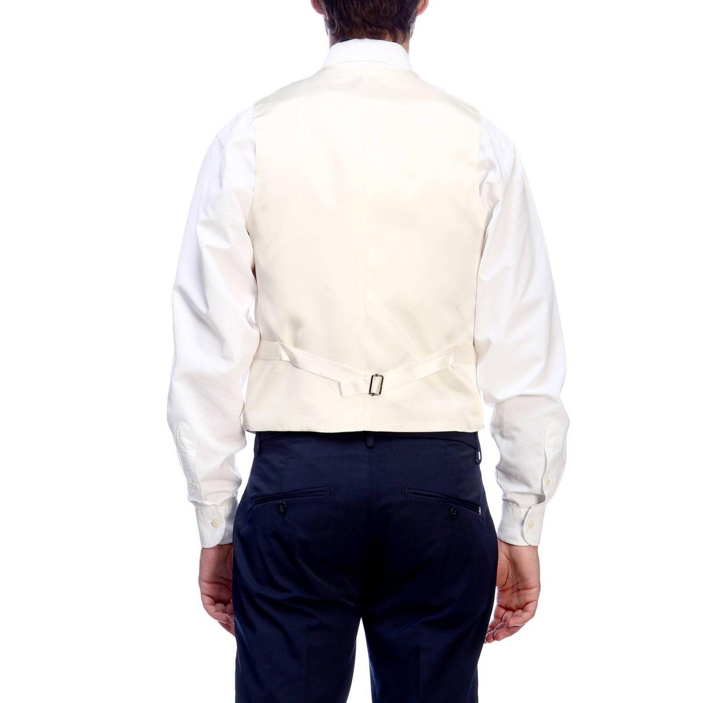 Gilet Brian Dales: Gilet Brian Dales classic in lana stretch panna 3