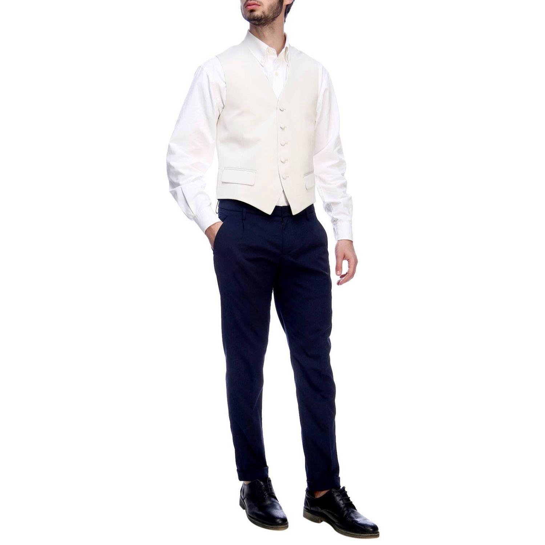 Gilet Brian Dales: Gilet Brian Dales classic in lana stretch panna 4
