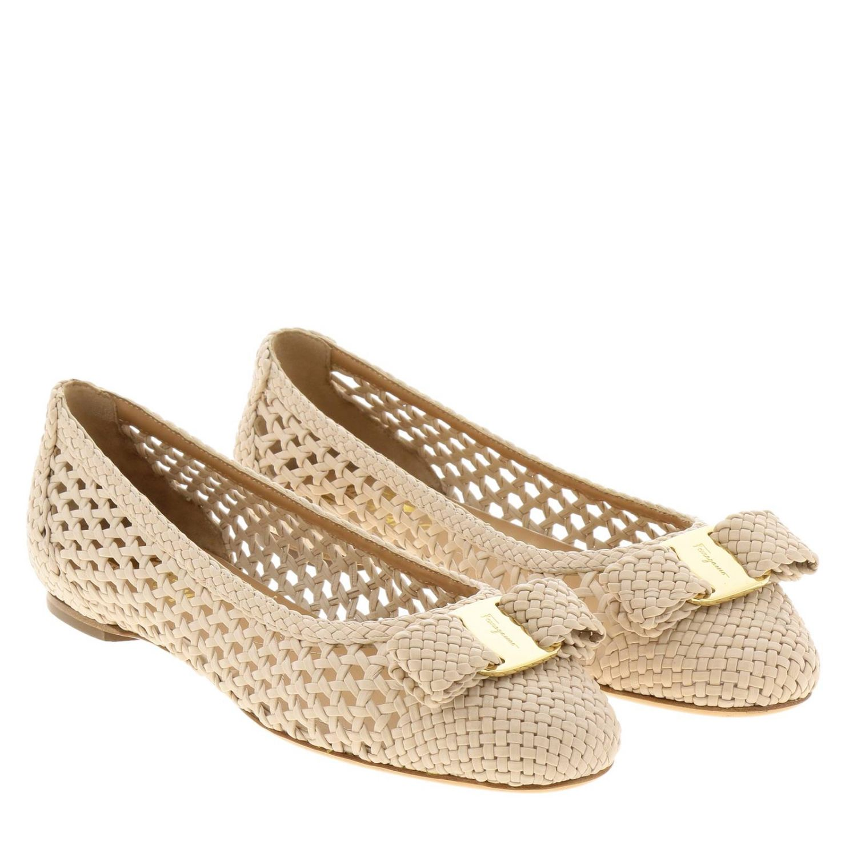 Обувь Женское Salvatore Ferragamo сливки 2