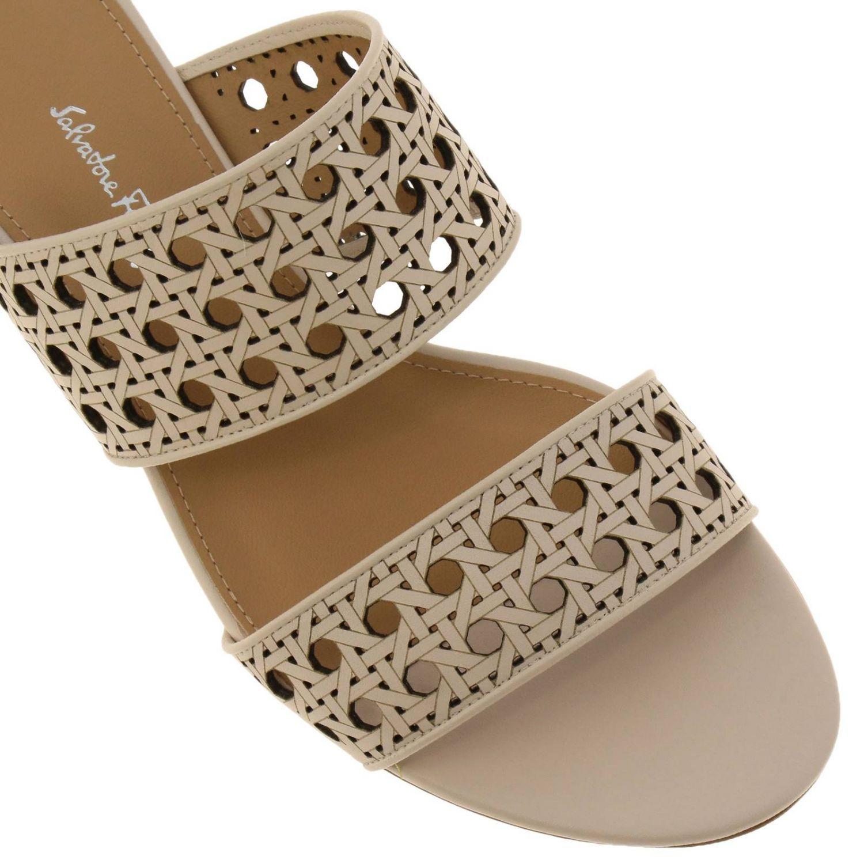 Обувь Женское Salvatore Ferragamo сливки 3