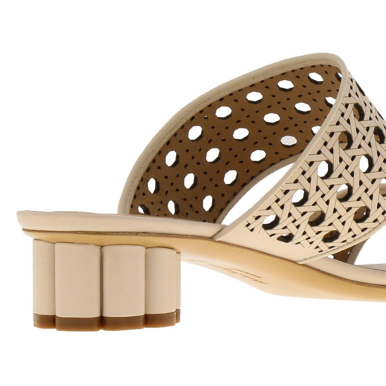 Обувь Женское Salvatore Ferragamo сливки 4