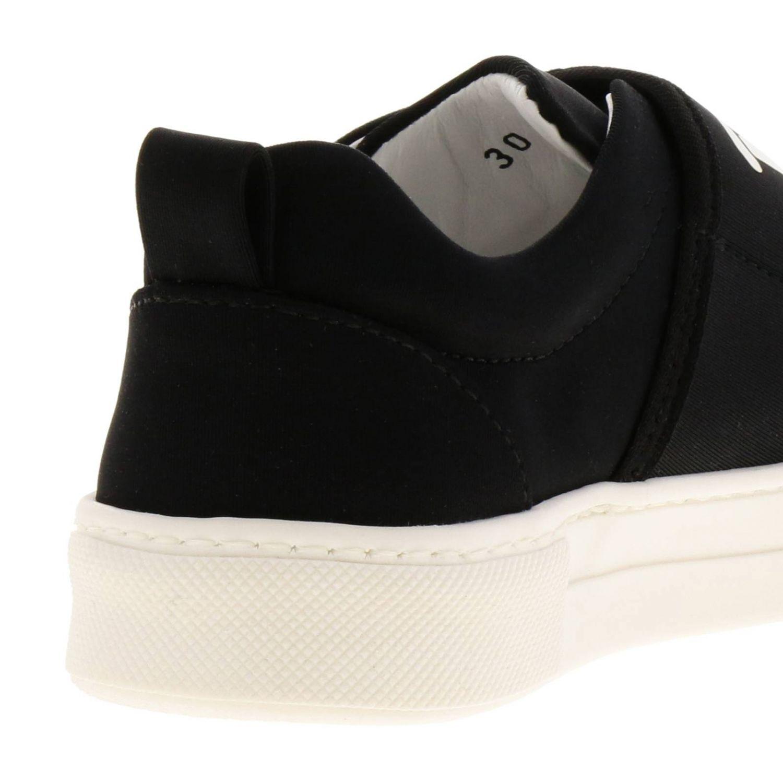 Sneakers slip on in neoprene con maxi fascia a strappo e logo Tod's nero 4