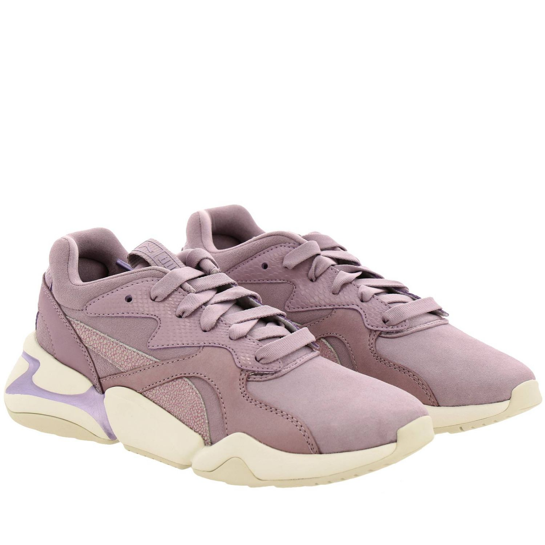 Sneakers Puma: Nova grunge sneakers pelle e camoscio rosa 2