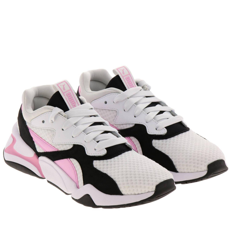 Sneakers Puma: Sneakers Nova 90's bloc Puma in pelle neoprene e gomma tricolor rosa 2