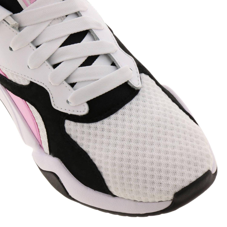 Sneakers Puma: Sneakers Nova 90's bloc Puma in pelle neoprene e gomma tricolor rosa 3