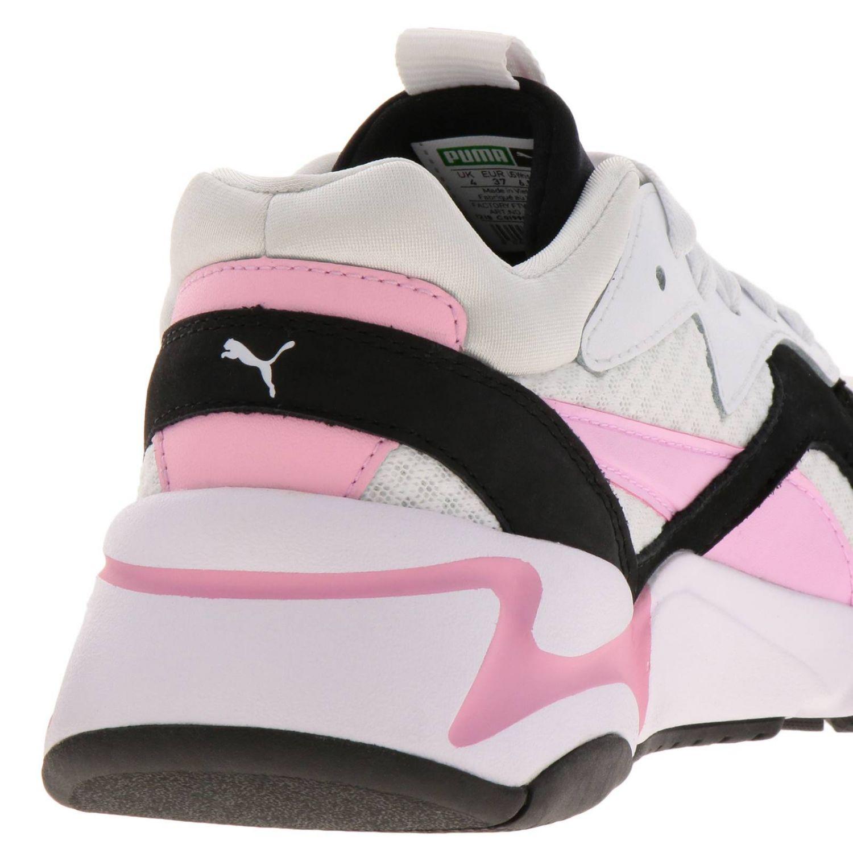Sneakers Puma: Sneakers Nova 90's bloc Puma in pelle neoprene e gomma tricolor rosa 4