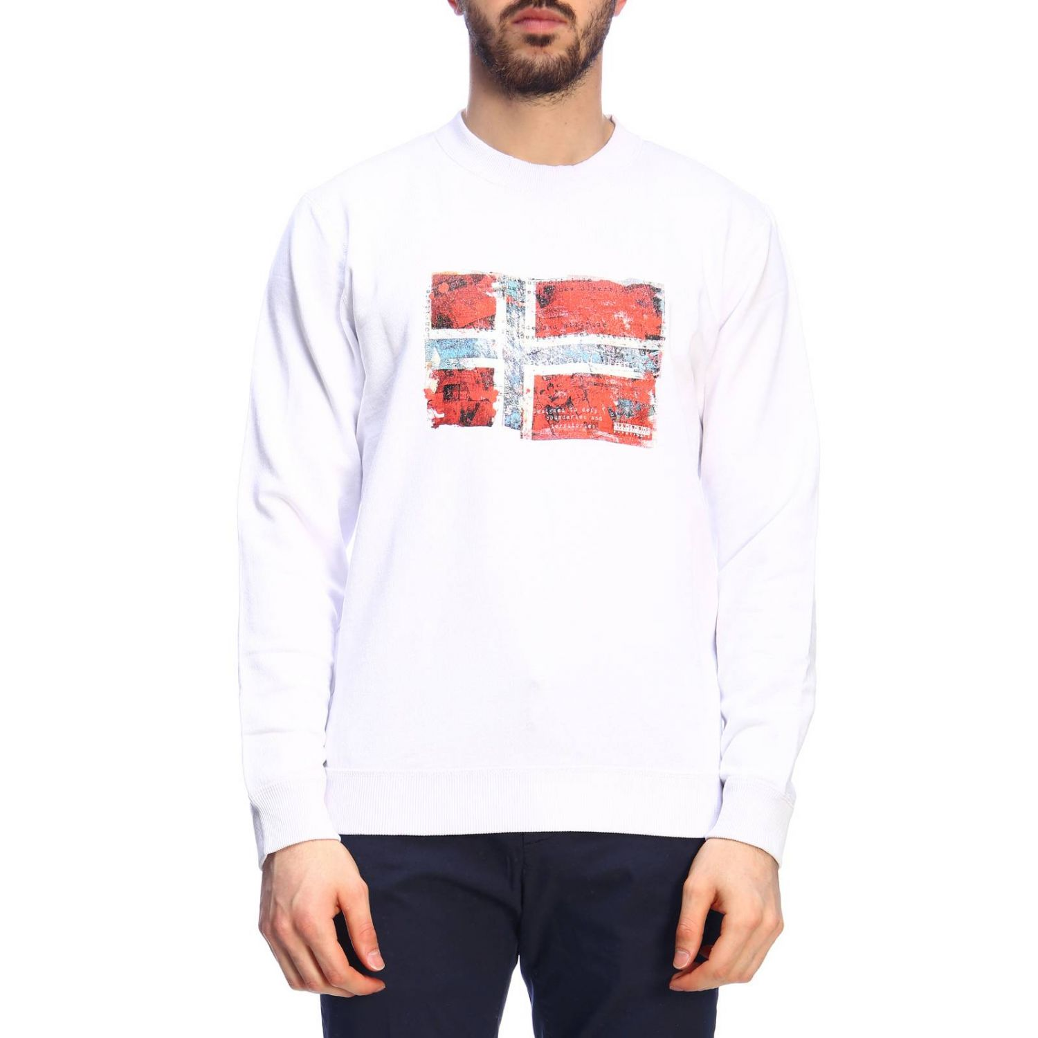 Sweater men Napapijri white 1