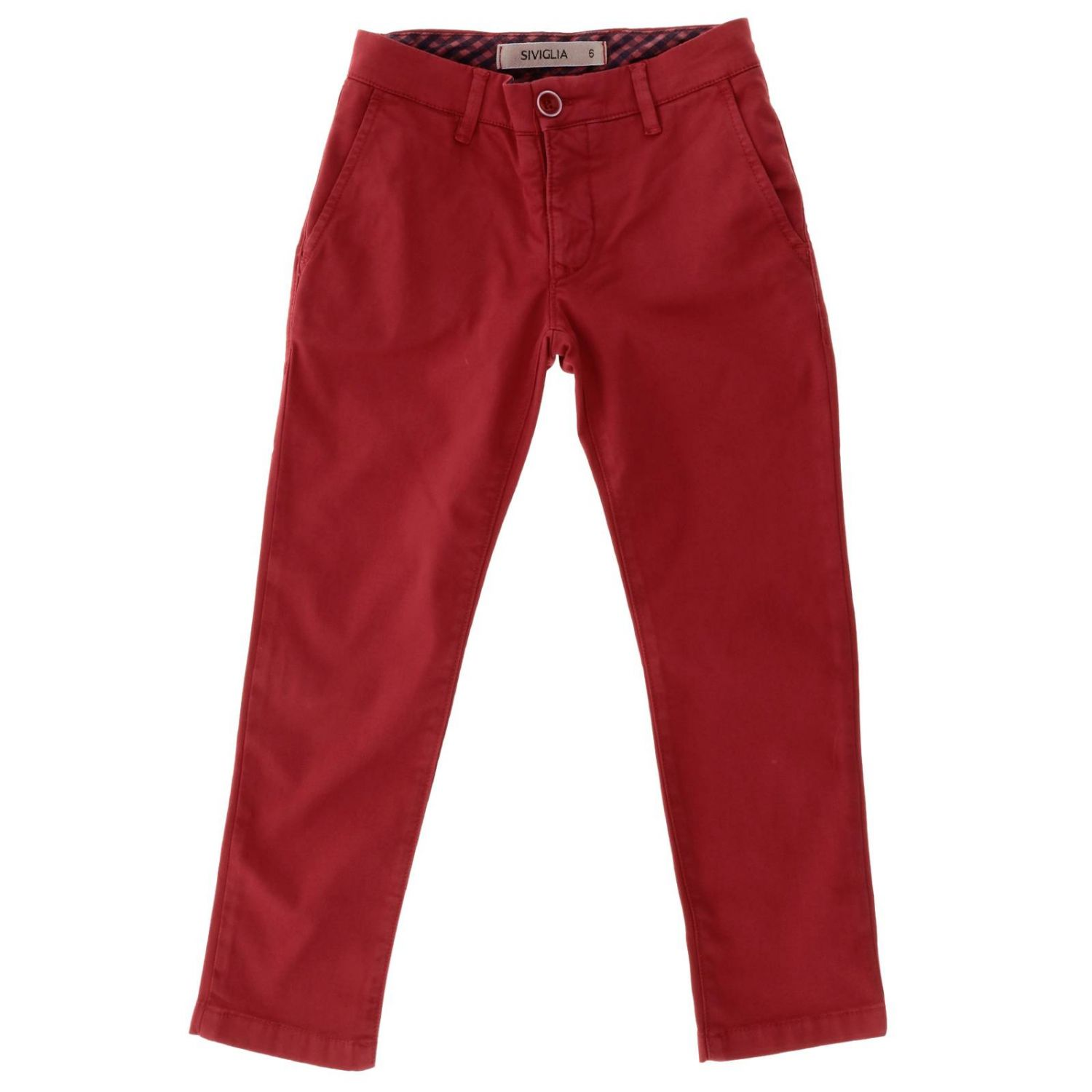 Trousers kids Siviglia red 1