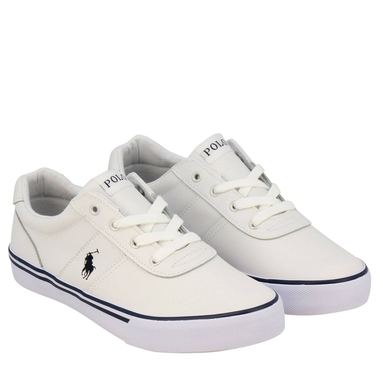 Sneakers Hanford EZ Polo Ralph Lauren in pelle con logo bianco 2