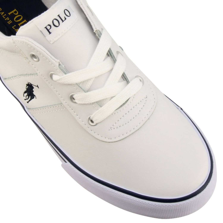 Sneakers Hanford EZ Polo Ralph Lauren in pelle con logo bianco 3