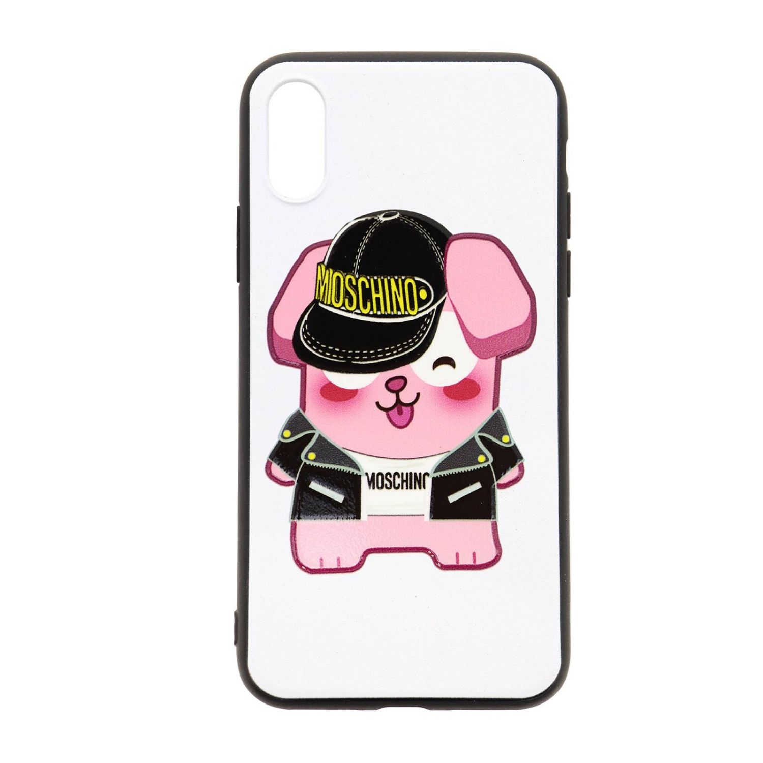 Cover Moschino Capsule Collection Pixel The Sims per Iphone Xs/X bianco 1