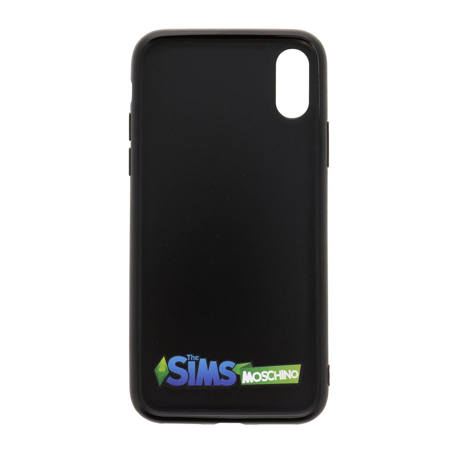 Cover Moschino Capsule Collection Pixel The Sims per Iphone Xs/X bianco 2
