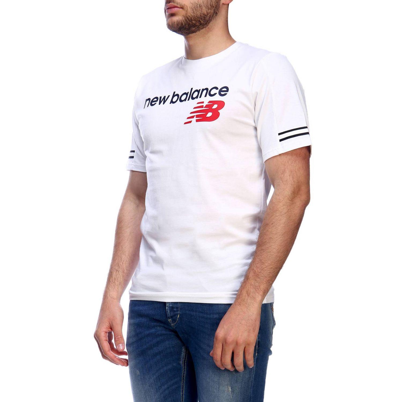 t-shirt new balance hommes blanche
