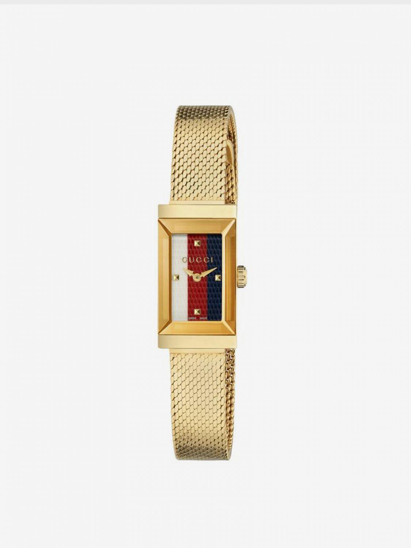 Orologio Gucci con cinturino in maglia milano giallo 1
