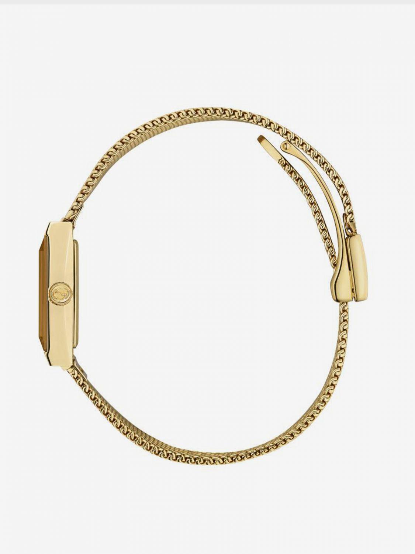 Orologio Gucci con cinturino in maglia milano giallo 3