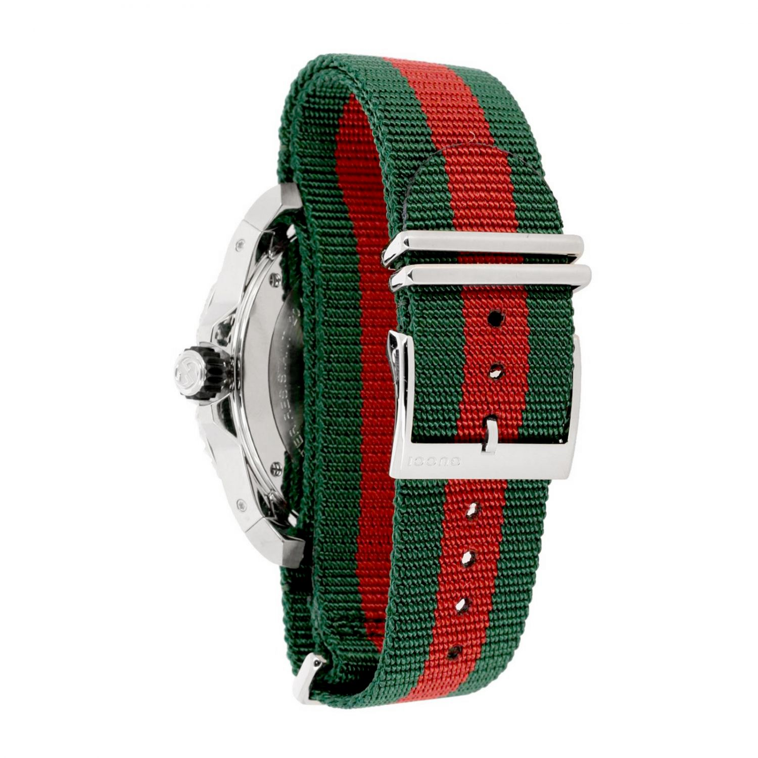 Watch Gucci: Watch with Gucci Web strap and sporty case black 2
