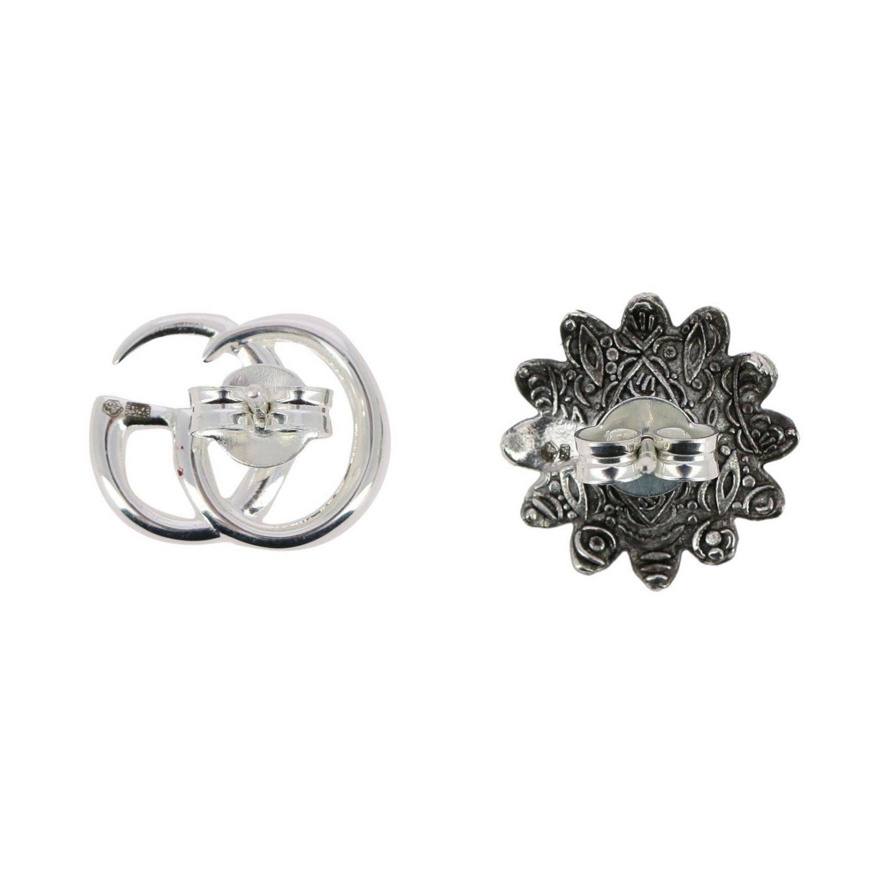 Orecchini gg marmont earr flower slv&top argento 2