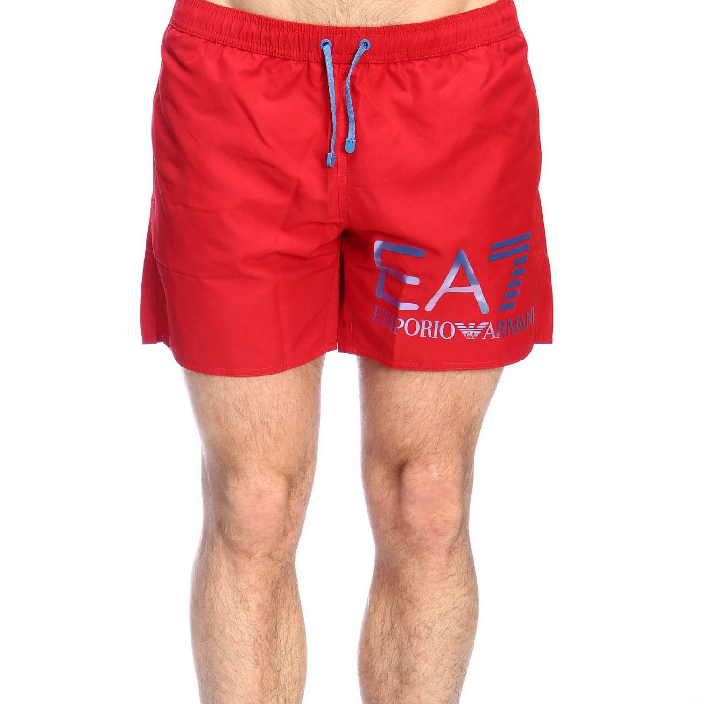 Maillot de bain Ea7 Swimwear: Maillot de bain homme Ea7 Swimwear rouge 1
