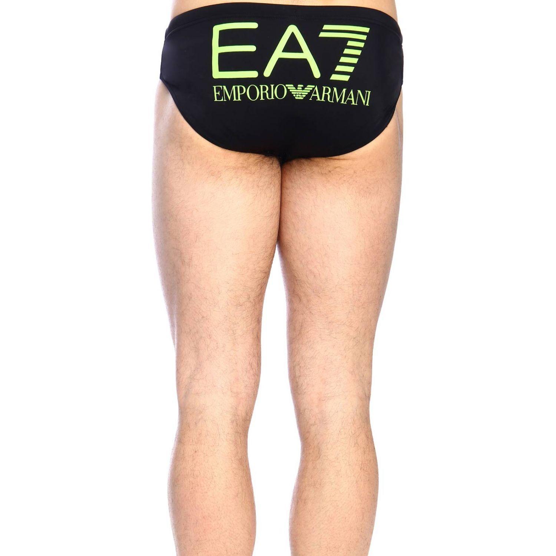 Maillot de bain homme Ea7 Swimwear noir 3